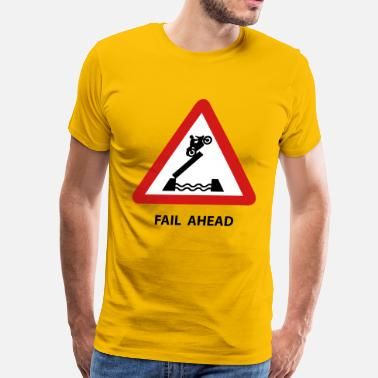 Attention Surfing Fail t-shirts - Men's Premium T-Shirt