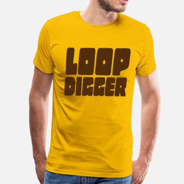 Golden Age Hip Hop LOOP DIGGER - Men's Premium T-Shirt
