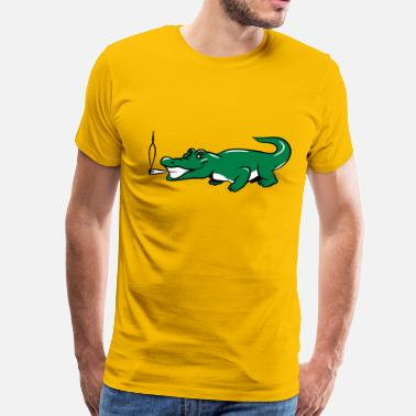 Weed Is Natural funny weed crocodile natural joint - Men's Premium T-Shirt