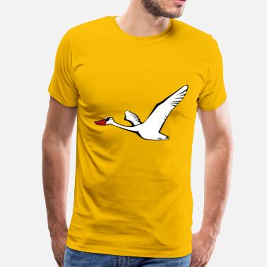 Duck With Sunglasses Bird flying goose duck sunglasses - Men's Premium T-Shirt