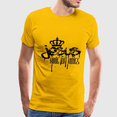 Crown king of kings king blood scratch scratches g - Men's Premium T-Shirt