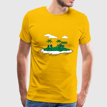 Island palm trees - Men's Premium T-Shirt
