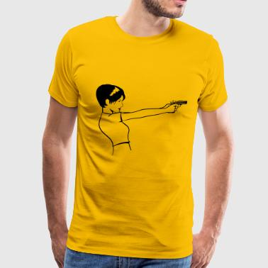 Sexy pistol woman sexy - Men's Premium T-Shirt
