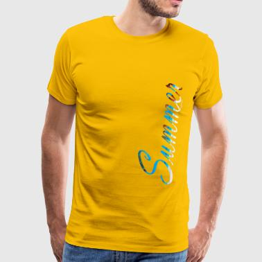 Summer Font Text - Men's Premium T-Shirt