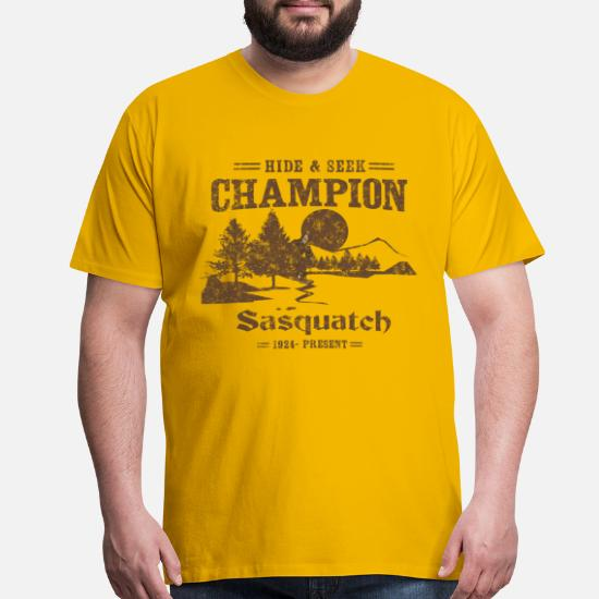 f7ce7714 Hide and Seek Champion. Sasquatch Men's Premium T-Shirt | Spreadshirt