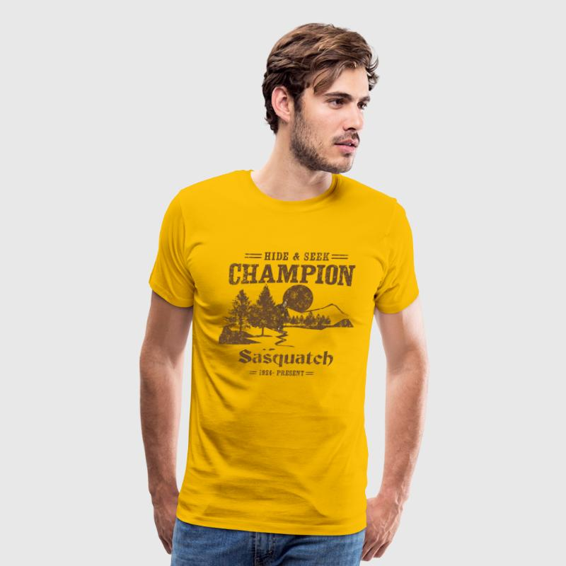 Hide and Seek Champion. Sasquatch - Men's Premium T-Shirt