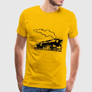 dampflok locomotive romance - Men's Premium T-Shirt