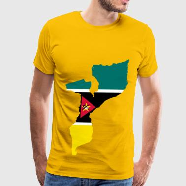 Mozambique Flag Map - Men's Premium T-Shirt