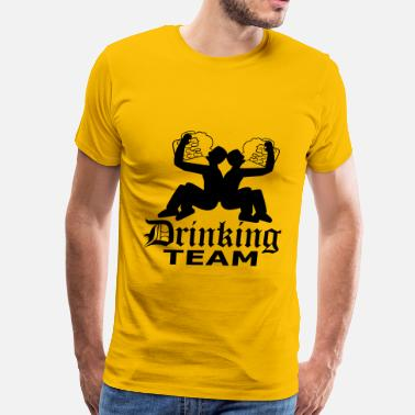 Huge Jugs Drinking team friends team crew huge huge thirst l - Men's Premium T-Shirt