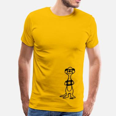 Timon Meerkat Photographer - Men's Premium T-Shirt