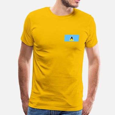 Lucia Saint Lucia Flag - Men's Premium T-Shirt