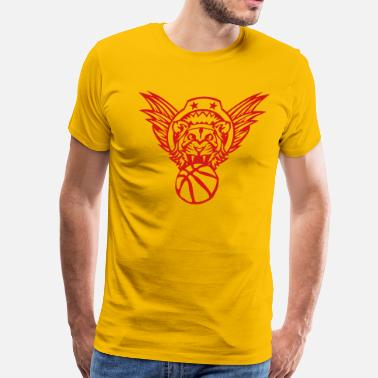 Basketball Logo With Wings wing lion basketball sports club logo 10 - Men's Premium T-Shirt