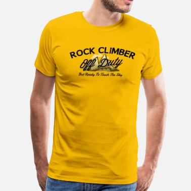 Off-duty Rock Climbier Off Duty - Men's Premium T-Shirt