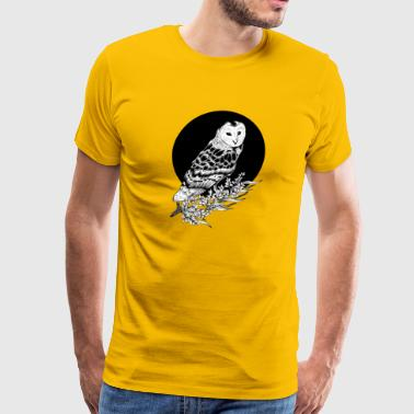Owl Art, Black Own - Men's Premium T-Shirt
