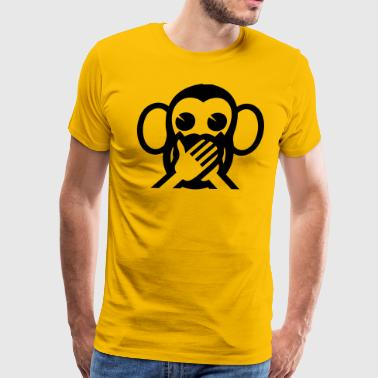 3 Monkeys Emoji 3 Wise Monkeys Iwazaru 言わざる Speak NO Evil Emoji - Men's Premium T-Shirt