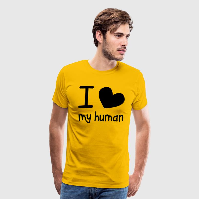 I LOVE MY HUMAN perfect for pet owners and lovers - Men's Premium T-Shirt