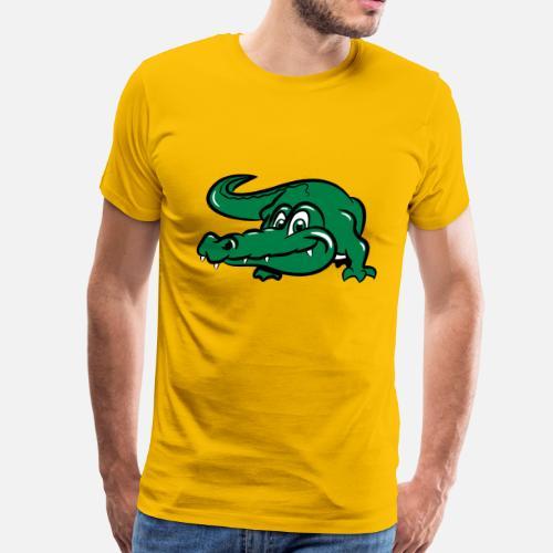 e275b86a crocodile button Men's Premium T-Shirt | Spreadshirt