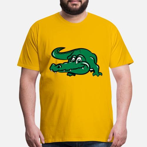 0b224e26 crocodile button - Men's Premium T-Shirt. Front. Front