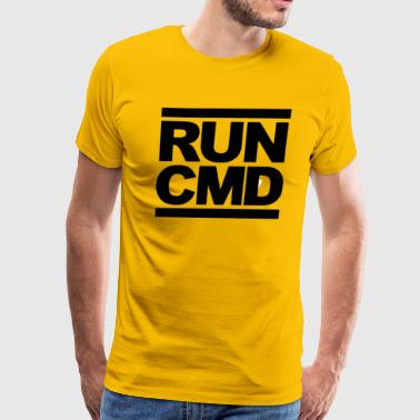 run cmd Funny Parody DMCs - Men's Premium T-Shirt