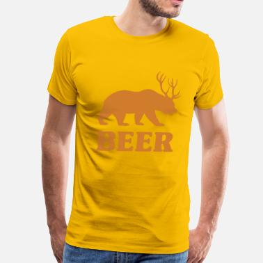 Deer Bear Bear+Deer=Beer - Men's Premium T-Shirt
