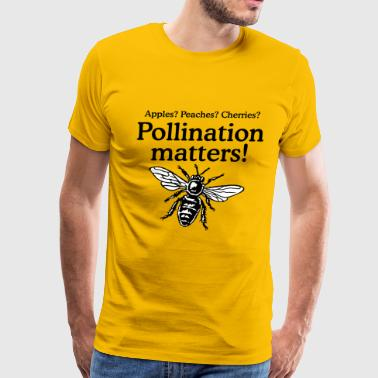 Pollinate Pollination Matters Beekeeper Design - Men's Premium T-Shirt