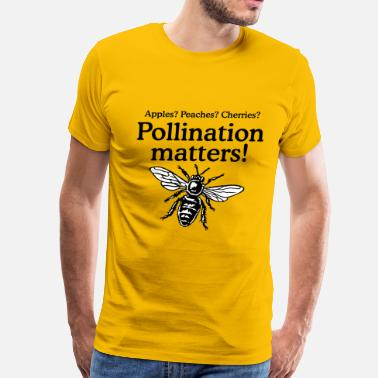 Pollinators Pollination Matters Beekeeper Design - Men's Premium T-Shirt