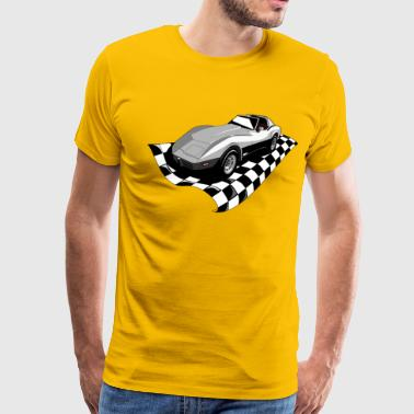 CORVETTE C3 CLASSIC CAR - Men's Premium T-Shirt