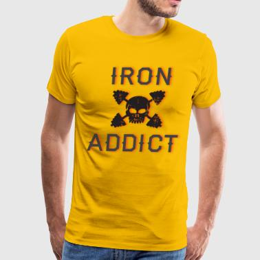 iron addict 3 - Men's Premium T-Shirt