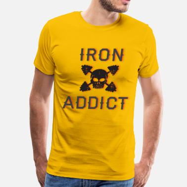 Iron Addicts iron addict 3 - Men's Premium T-Shirt