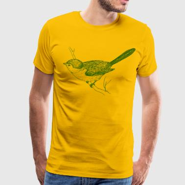bird illustration - Men's Premium T-Shirt