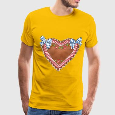 Gingerbread heart - Men's Premium T-Shirt