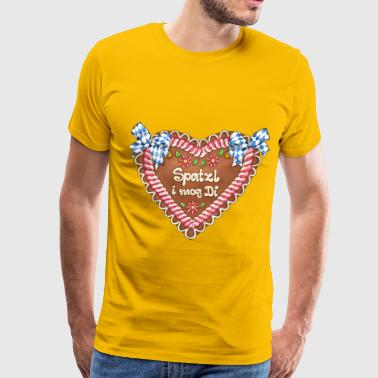 Gingerbread heart - text - Men's Premium T-Shirt