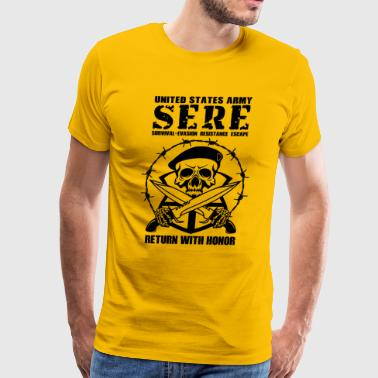 United States Army SERE Military US Army Survival - Men's Premium T-Shirt