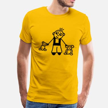 Stuffed Animal Boy with stuffed animals - Men's Premium T-Shirt