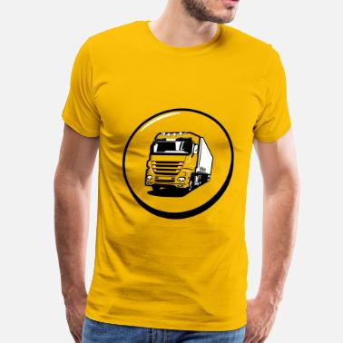 Truck Driving Truck truck drive button - Men's Premium T-Shirt