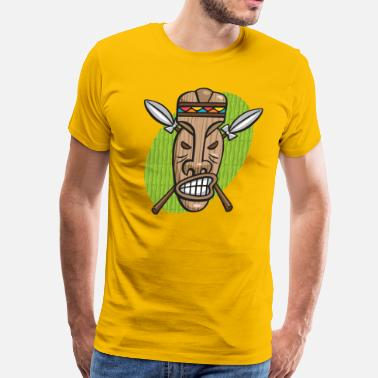 Surly Tiki Mask - Men's Premium T-Shirt