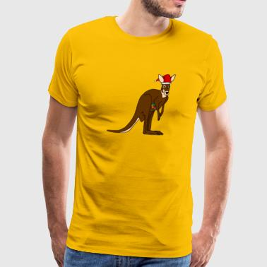 Kangaroo Jokes Christmas Kangaroo - Men's Premium T-Shirt