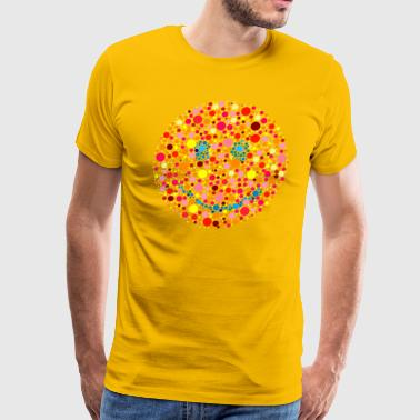 Color Blind Color Blind Smiley - Men's Premium T-Shirt