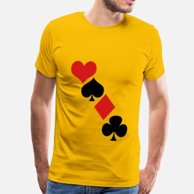 Queen Clover Deck of cards - Men's Premium T-Shirt