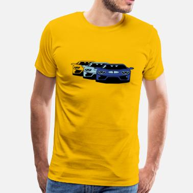Car Art Race car sports car art - Men's Premium T-Shirt
