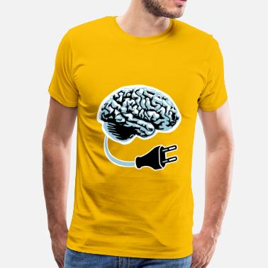 Power Electronics power plug connector think brain electronically cl - Men's Premium T-Shirt