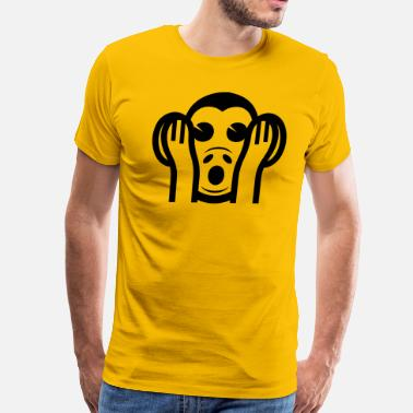 3 Monkeys Emoji 3 Wise Monkeys Kikazaru 聞かざる Hear NO Evil Emoji - Men's Premium T-Shirt