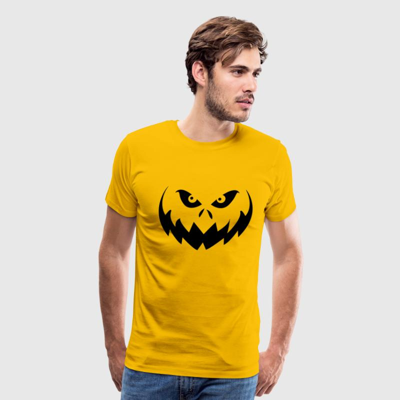 Jack O'Lantern Halloween Pumpkin Face - Men's Premium T-Shirt