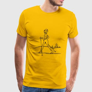 Winter vacation skilanglauf sport - Men's Premium T-Shirt