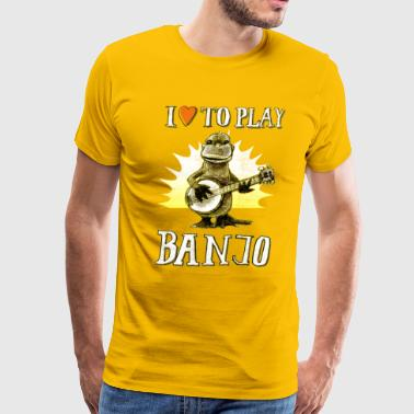 I love to play banjo - Men's Premium T-Shirt