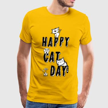 Cat Day Happy Cat Day - Men's Premium T-Shirt