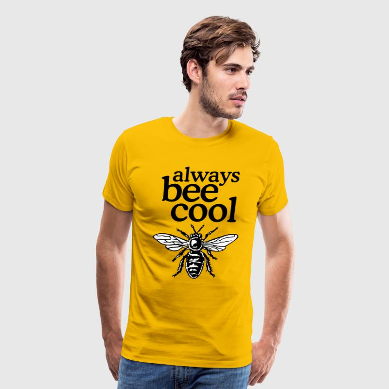 Always Bee Cool Beekeeper Quote Design (two-color) - Men's Premium T-Shirt