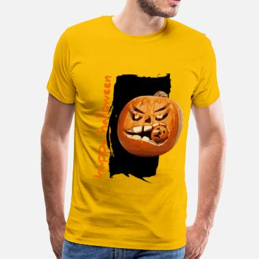 Happy Pumpkin Halloween halloween pumpkin - Men's Premium T-Shirt