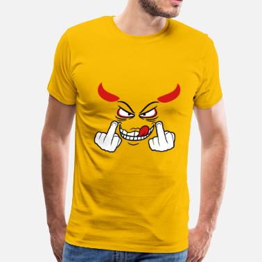 Devil Horns Devil satan demon horns hell show gloves stinkfing - Men's Premium T-Shirt
