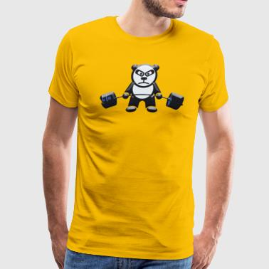 Deadlifts Weightlifting Panda Bear Deadlift - Men's Premium T-Shirt